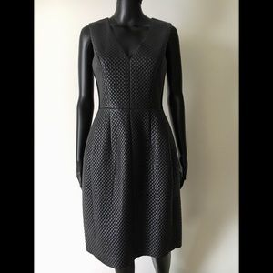 BCBGMaxAzria Quilted Leather Dress